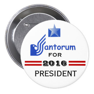 Rick Santorum 2016 7.5 Cm Round Badge