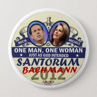 Rick Santorum and Michele Bachmann in 2012 10 Cm Round Badge
