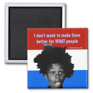 Rick Santorum Black People Speech, campaign 2012 Square Magnet