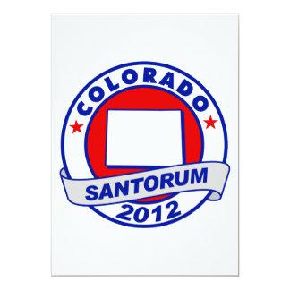 Rick Santorum Colorado 13 Cm X 18 Cm Invitation Card