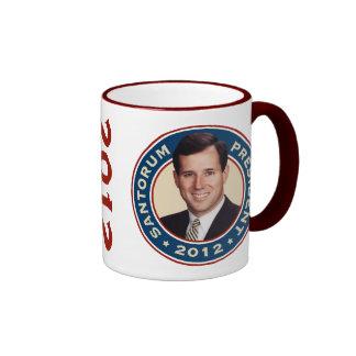 Rick Santorum for President 2012 Coffee Mugs