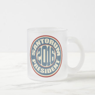 Rick Santorum for President 2016 Frosted Glass Mug