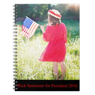 Rick Santorum for President 2016 Note Book