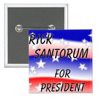 Rick Santorum For President Fading Red White & Blu Pin