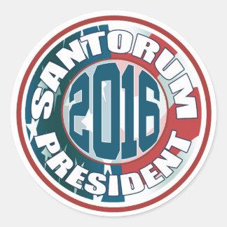 Rick Santorum for President in 2016 Round Sticker