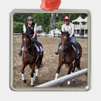Rick Violette Morning Workouts at Saratoga Christmas Ornament