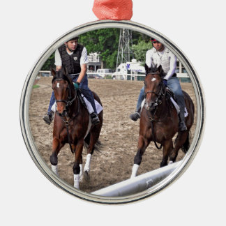 Rick Violette Morning Workouts at Saratoga Christmas Ornaments