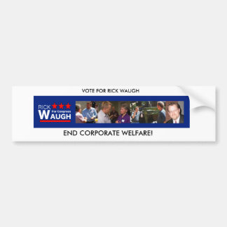 Rick Waugh for Congress Bumper Sticker