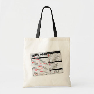 Rickroll Astley Apology Notice Budget Tote Bag