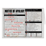 Rickroll Astley Apology Notice Greeting Card