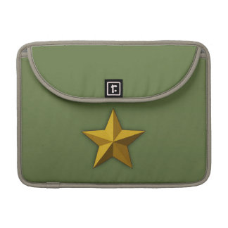 "Rickshaw 13"" MacBook sleeve,  Gold star, Star Sleeve For MacBook Pro"