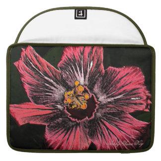 Rickshaw Flap Sleeve. Hibiscus. MacBook Pro Sleeve