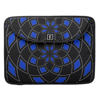 Rickshaw Flap Sleeve with black blue design Sleeve For MacBook Pro