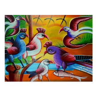 RickshawArt bird postcard