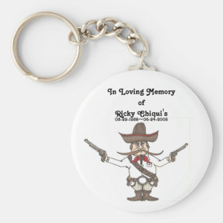 Ricky Chiqui's memorial keychain!! Basic Round Button Key Ring