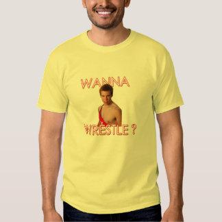 "Ricky says ""Wanna Wrestle?"" Tees"