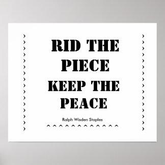 Rid the piece-guns poster