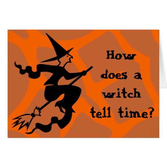 Riddle Halloween Witch Card