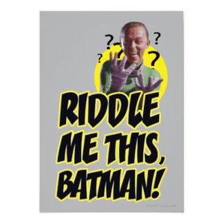 Riddle Me This Batman 13 Cm X 18 Cm Invitation Card
