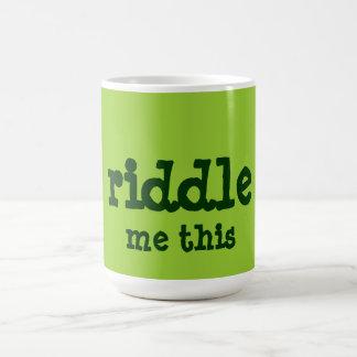 riddle me this coffee mug