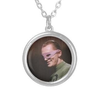 Riddler - Masked Silver Plated Necklace