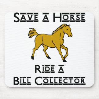ride a bill collector mouse pad