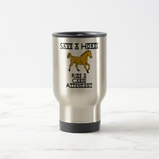 ride a cabin attendant stainless steel travel mug