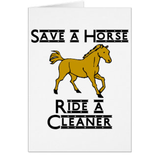 ride a cleaner note card