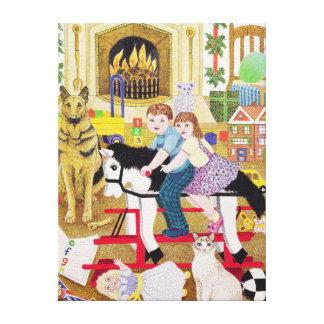 Ride-a-Cock-Horse Canvas Print