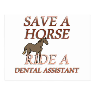 Ride a Dental Assistant Postcard