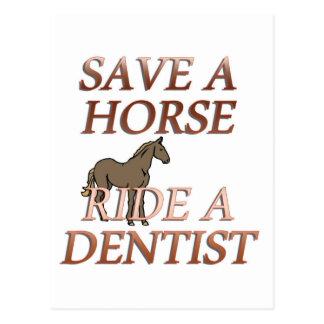Ride a Dentist Postcard