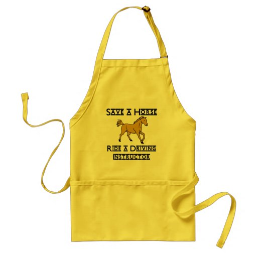ride a driving instructor aprons
