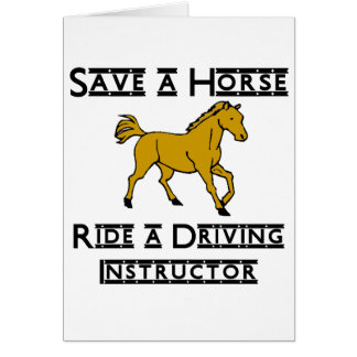 ride a driving instructor note card