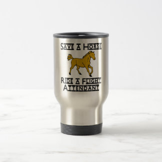 ride a flight attendant stainless steel travel mug