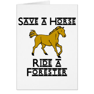 ride a florest note card