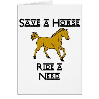 ride a nerd note card