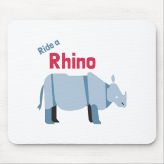 Ride a Rhino Mouse Mat