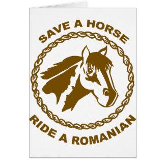 Ride A Romanian Greeting Card