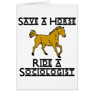 ride a sociologist stationery note card