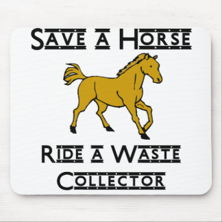ride a waste collector mouse pad