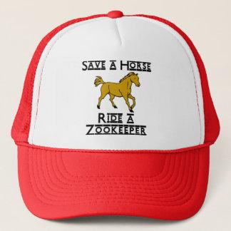 ride a zookeeper trucker hat