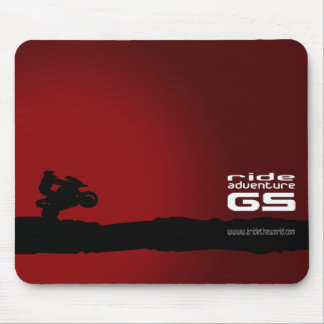 Ride-Adventure-GS black on red Mouse Mat