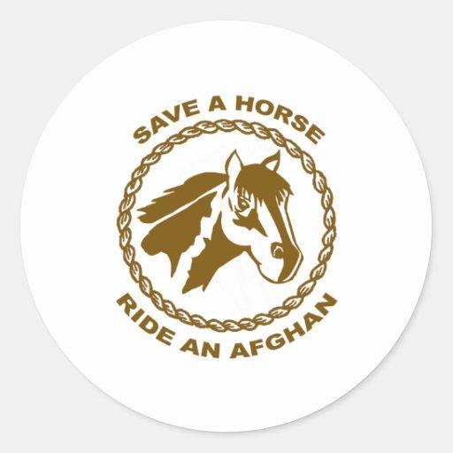 Ride An Afghan Sticker