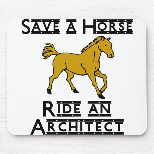 ride an architect mousepads
