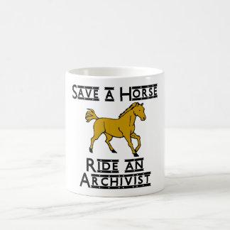ride an archivist basic white mug