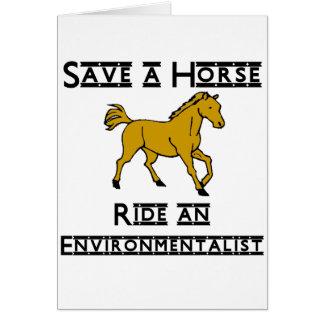 ride an environmentalist note card