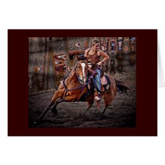 Ride Em' Cowgirl! Greeting Card