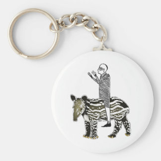 Ride em' tapir basic round button key ring