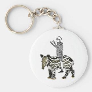 Ride em' tapir basic round button key ring