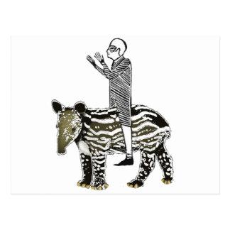 Ride em' tapir postcard